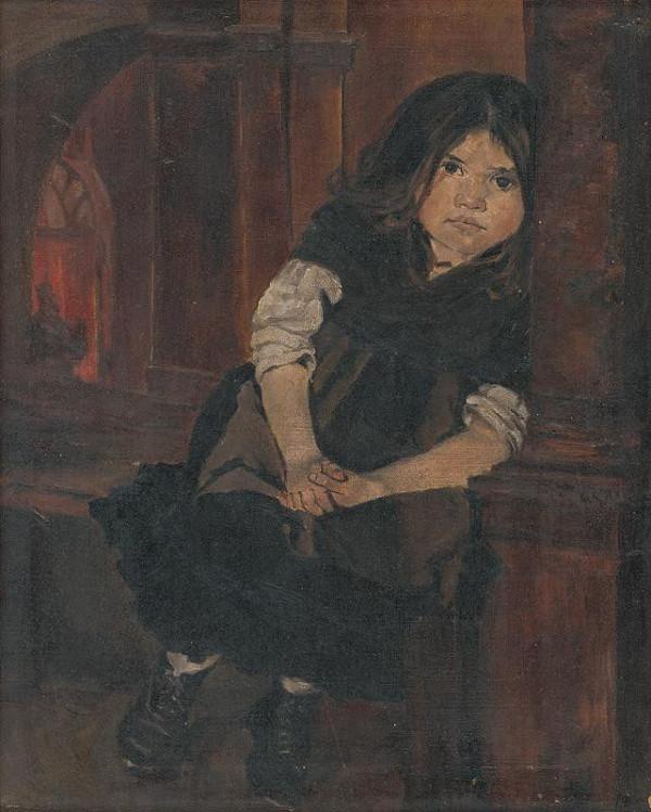 Dominik Skutecký – Štúdia dievčatka