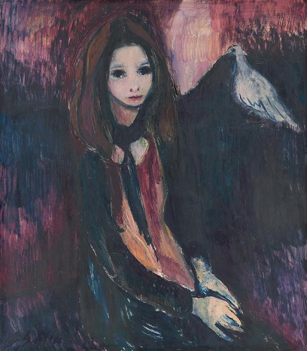 Gabriela Schillerová - Dievčatko s holubičkou