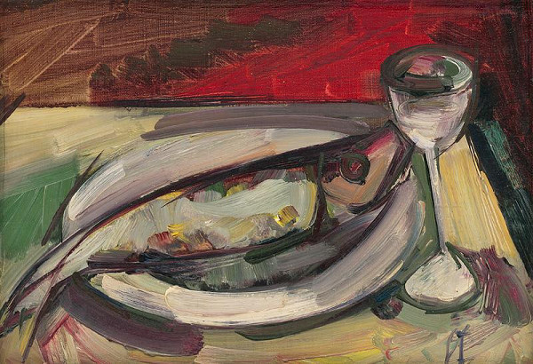 František Studený – Ryba s pohárom