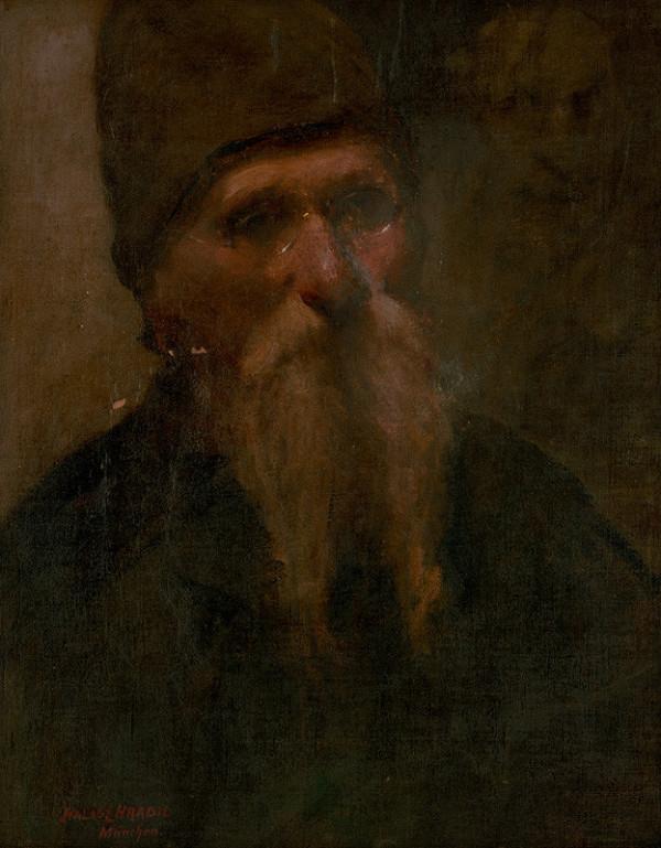 Elemír Halász-Hradil – Portrét starca