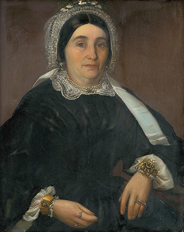 Západoslovenský maliar z 2. polovice 19. storočia - Podobizeň pani Královičovej