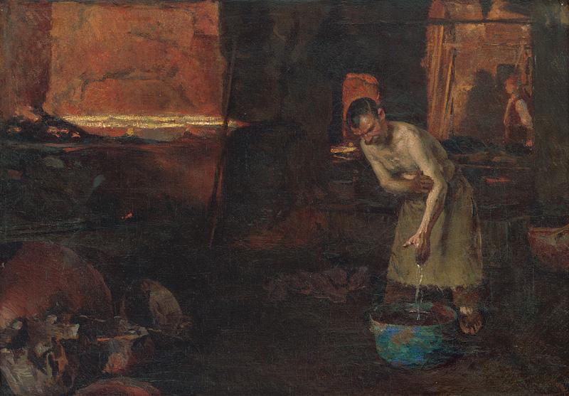 Dominik Skutecký – Po práci I., okolo 1918, Slovenská národná galéria
