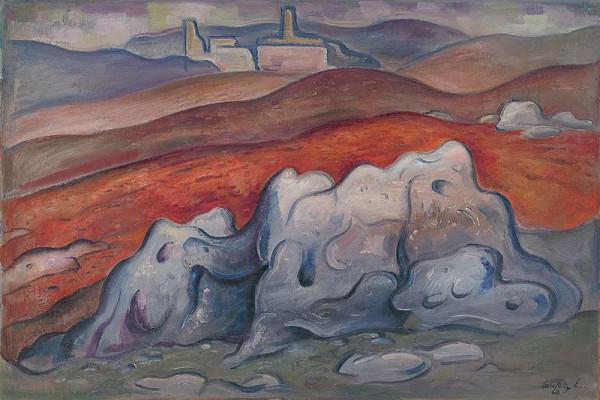 Eugen Lehotský – Krajina s Blatnickým hradom
