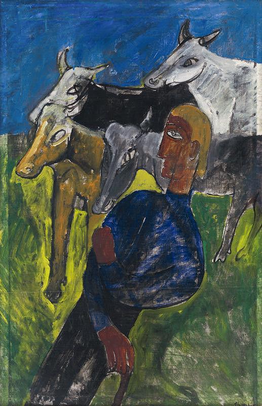 Bertalan Pór - Pastier so zvieratmi