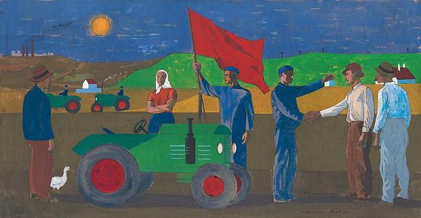 Ladislav Guderna - Odovzdávanie traktora