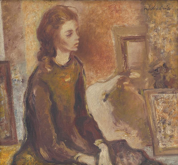 Vincent Hložník – Sediace dievča