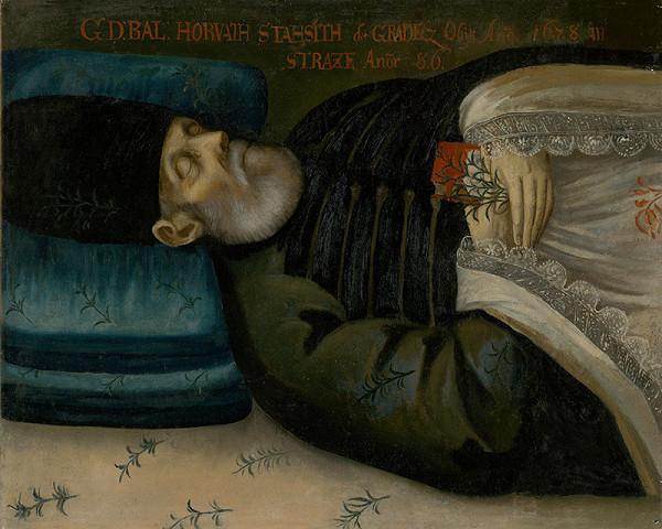 Slovenský maliar z 3. tretiny 18. storočia, Neznámy maliar – Posmrtný portrét B. Horvatha-Stansitha