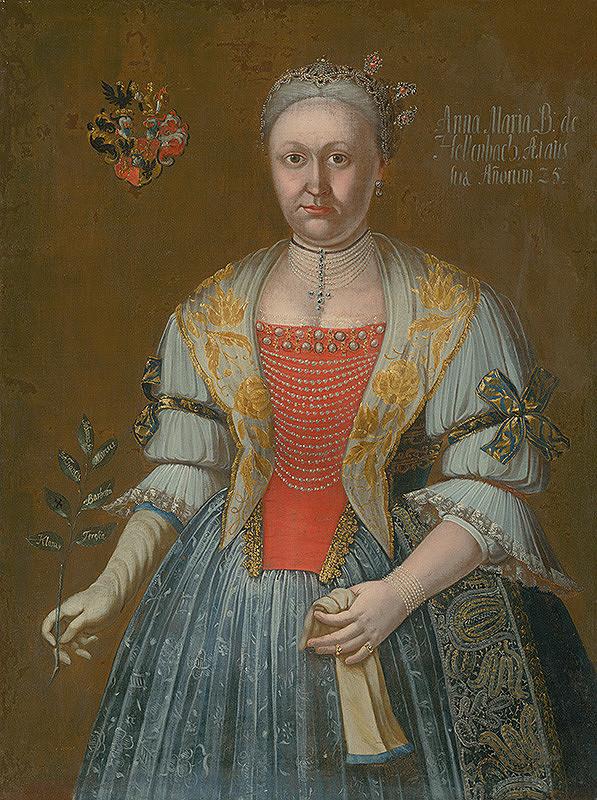 Ján Gottlieb Kramer – Anna Mária B. de Hellenbach ako 25 ročná