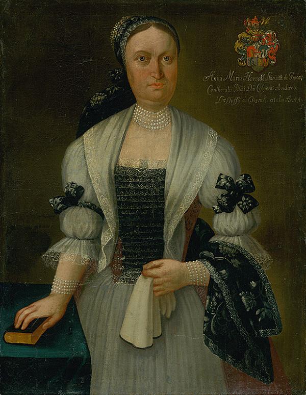 Ján Gottlieb Kramer - Anna Maria Desséwffyová, rodená Horvath-Stansithová ako 44 ročná vdova