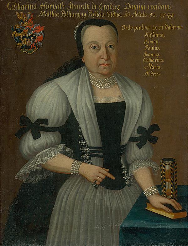 Ján Gottlieb Kramer - Katarína Pothurnayová, Rod. Horvathstansithová ako 55 -ročná vdova