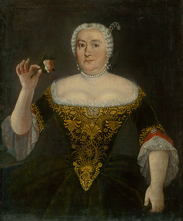 Slovenský maliar okolo polovice 18. storočia, Neznámy maliar - Barónka Rozália Mednyanská, rodená Révayová