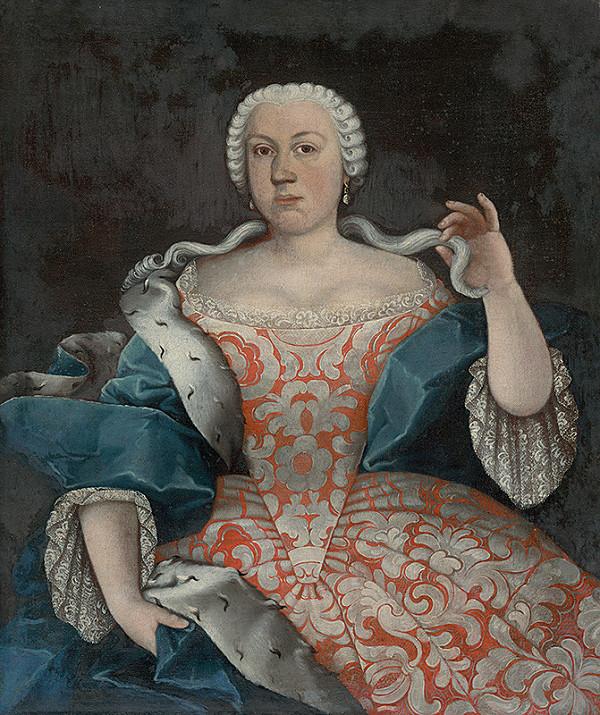 Slovenský maliar z polovice 18. storočia, Neznámy maliar – Barónka Rozália Révayová ako mladá dáma