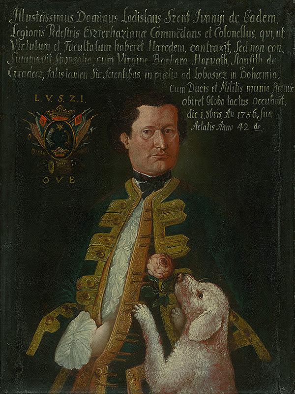 Slovenský maliar z polovice 18. storočia, Neznámy maliar - Plukovník Ladislav Szent Iványi, snúbenec barbory Horváth-Stansithovej