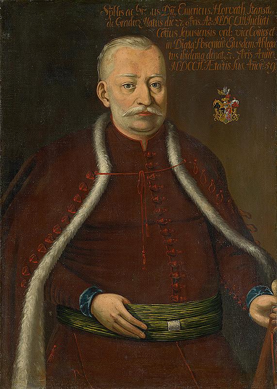 Slovenský maliar z prelomu 17. - 18. storočia, Neznámy maliar – Podobizeň Imricha Horvátha-Stansith