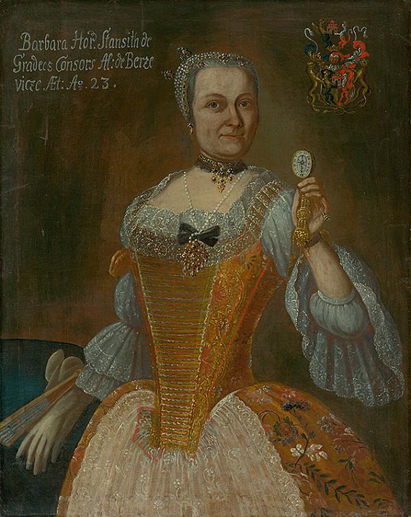 Slovenský maliar z 1. polovice 18. storočia, Neznámy maliar, Ján Gottlieb Kramer - Barbora Berzeviczyová, rodená Horváth Stansithová ako 23 ročná