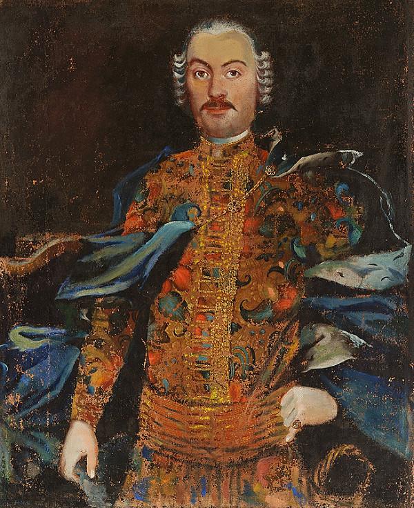 Slovenský maliar z polovice 18. storočia, Neznámy maliar – Podobizeň zemana v parochni a v slávnostnom kroji