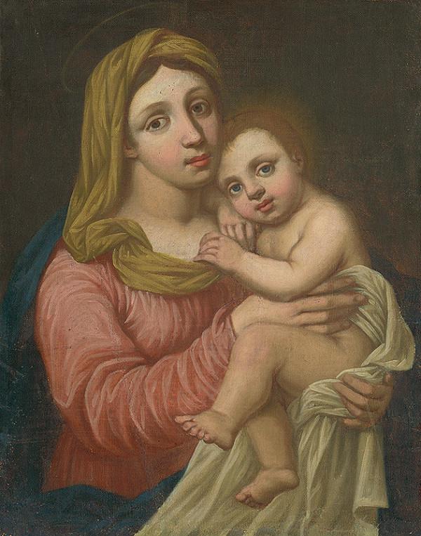 Stredoeurópsky maliar z 18. storočia - Madona s dieťaťom