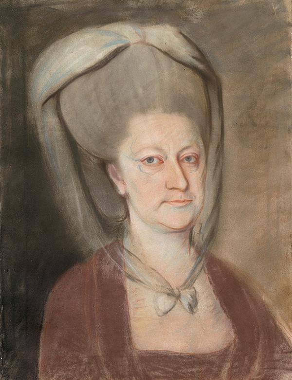 Slovenský maliar zo začiatku 19. storočia, Stredoeurópsky autor Viedeň - Podobizeň grófky Anny Márie Eszerházy, rod. Erdödy