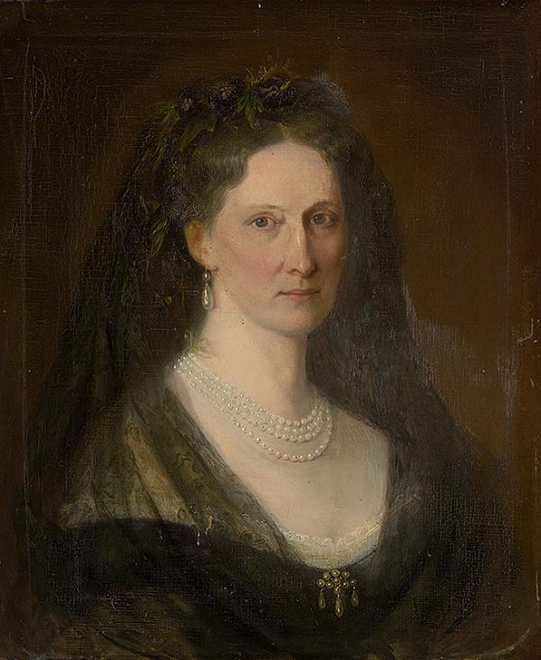 Carl Martin Ebersberg - Podobizeň barónky Hedvigy Mednyánszkej (Medňanskej)