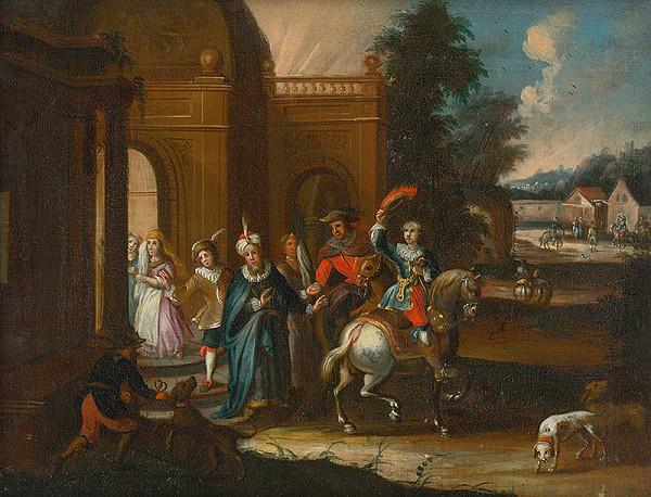 Stredoeurópsky maliar z konca 18. storočia – Odobierka márnotratného syna