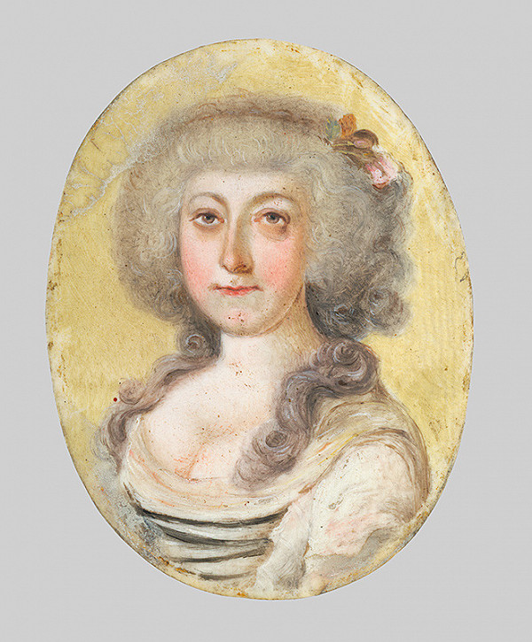 Stredoeurópsky miniaturista zo začiatku 19. storočia - Podobizeň Anny Márie Sturmanovej