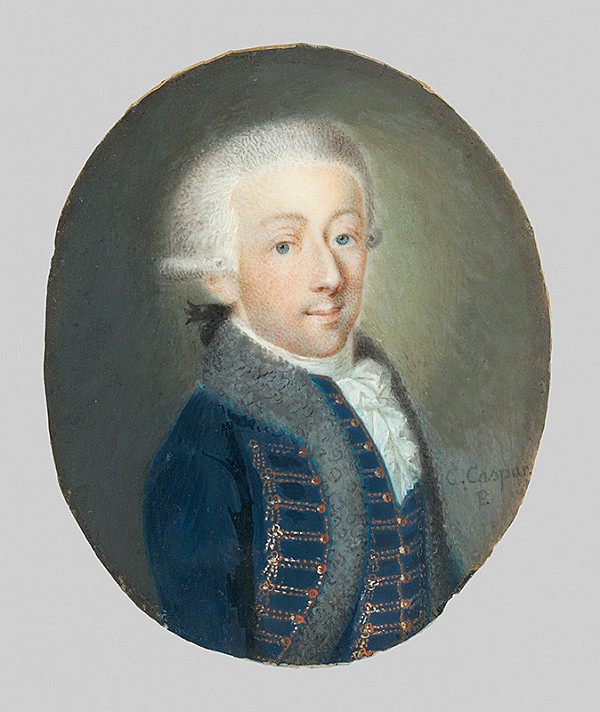 Stredoeurópsky miniaturista z konca 18. storočia, Karl Caspar - Podobizeň grófa Jozefa Szapáryho