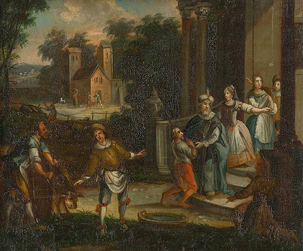 Stredoeurópsky maliar - diletant z konca 18. storočia - Návrat márnotratného syna