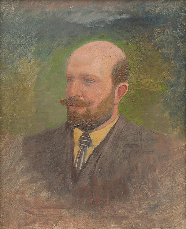Ladislav Mednyánszky - Podobizeň muža s kravatou