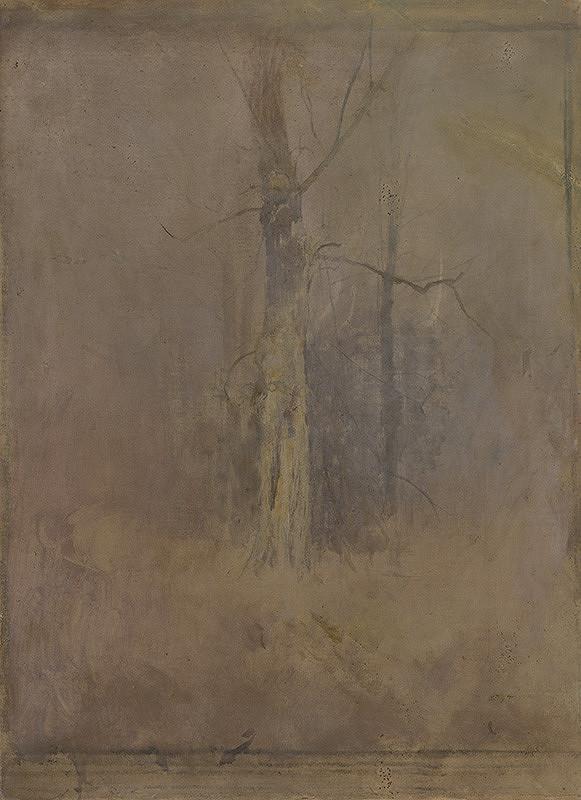 Ladislav Mednyánszky - Sivá nálada so suchým stromom