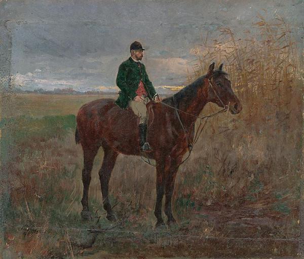 Ladislav Mednyánszky – Štúdia jazdca na koni
