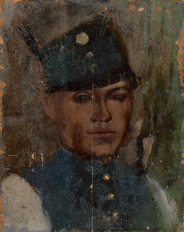 Ladislav Mednyánszky - Štúdia hlavy vojaka