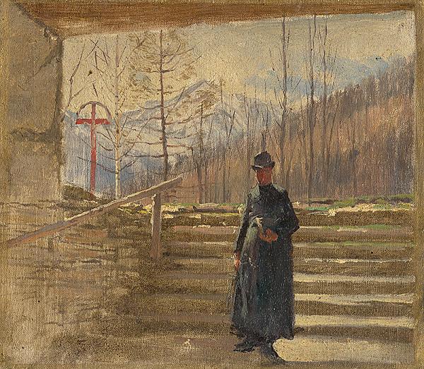 Ladislav Mednyánszky – Štúdia kráčajúceho kňaza