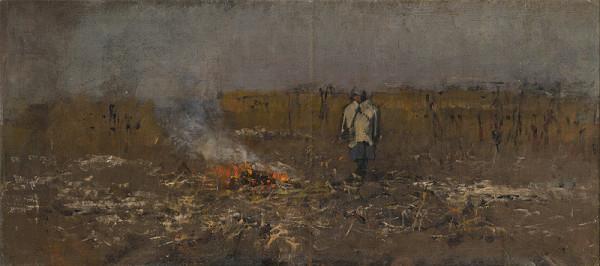 Ladislav Mednyánszky - Jesenný ohník