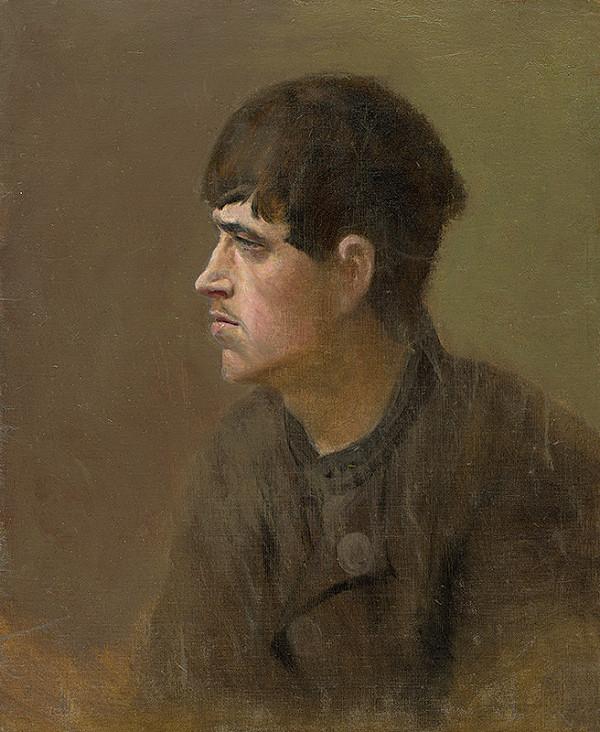 Ladislav Mednyánszky - Polofigúra mládenca z profilu