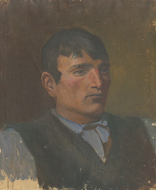 Ladislav Mednyánszky – Štúdia mládenca v tmavej veste