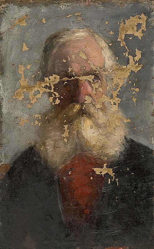 Ladislav Mednyánszky - Štúdia belovlasého starca s bradou
