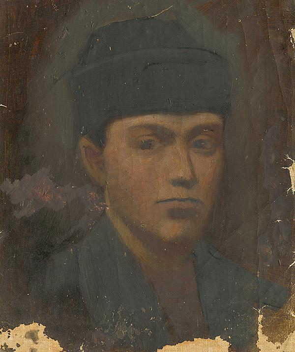 Ladislav Mednyánszky - Hlava chlapca v čiernej baranici