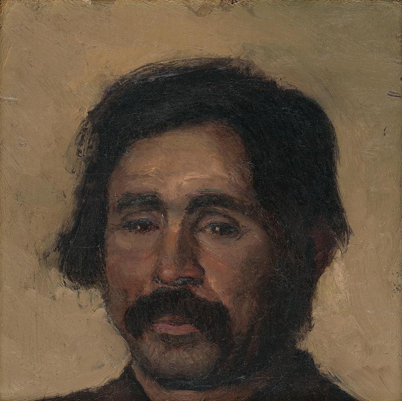 Ladislav Mednyánszky – Fragment štúdie cigánskej hlavy, 1880 – 1900, Slovenská národná galéria