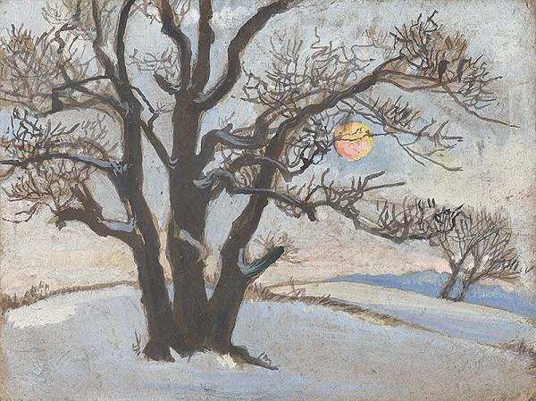 Margita Czóbelová - Zimná krajina so slnkom