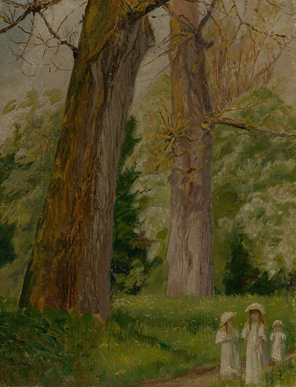 Margita Czobelová st. - Autorkine deti v parku