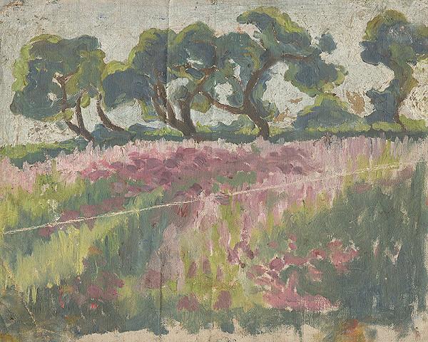 Frida Konstantin – Rozkvitnutá lúka so stromami