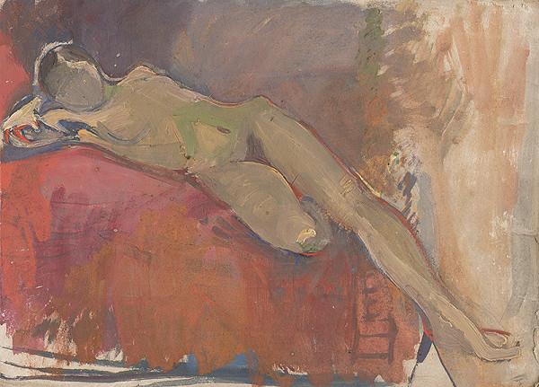 Frida Konstantin - Štúdia ležiaceho ženského aktu