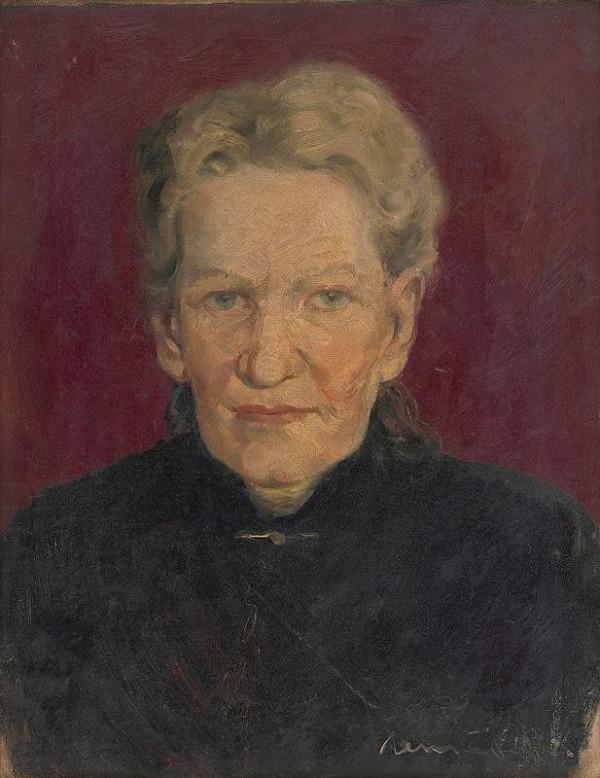Július Nemčík - Portrét starej ženy