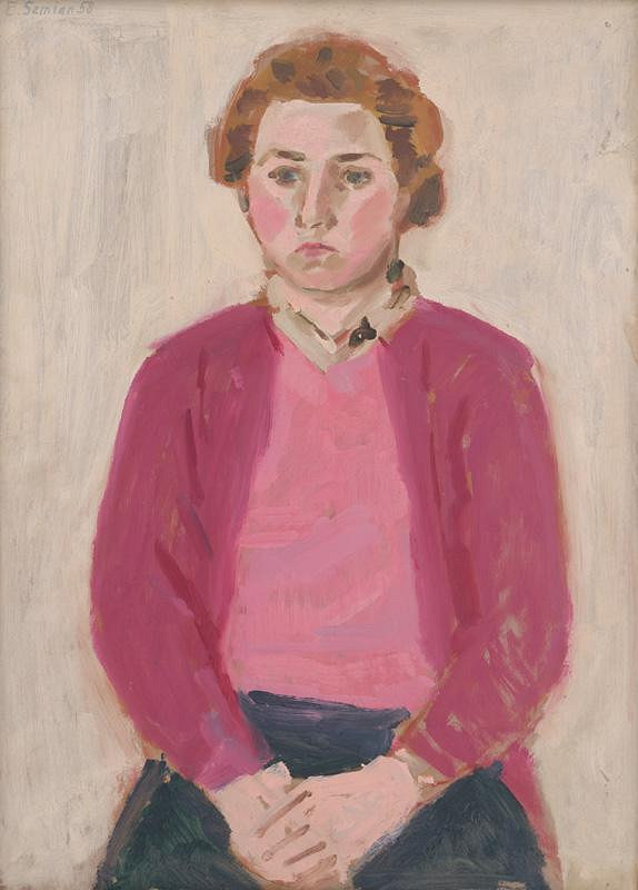 Ervín Semian – Dievča v ružovom svetri