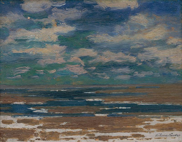 Ferdinand Katona - Krajina s jarnými oblakmi