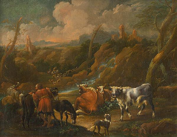 Philipp Peter Roos, Talianský maliar zo začiatku 18. storočia – Stádo pri antickej studni