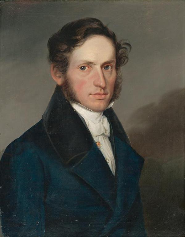 Ferdinand Karl Theodor Lütgendorff, Bratislavský maliar z 1. polovice 19. storočia - Muž v modrom redingote