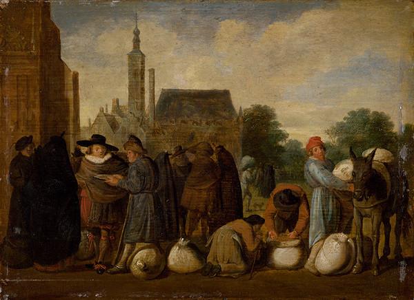 Sybrand van Beest, Holandský maliar z 2. polovice 17. storočia – Na trhu