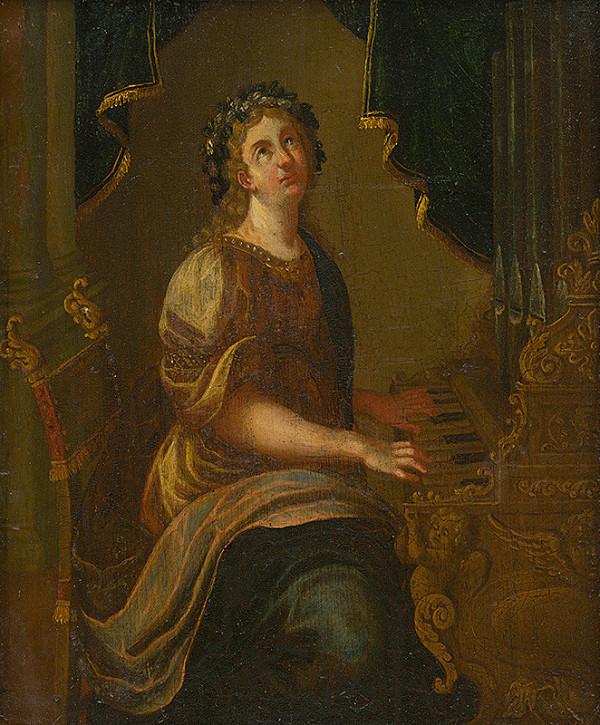 Neznámy maliar - Svätá Cecília
