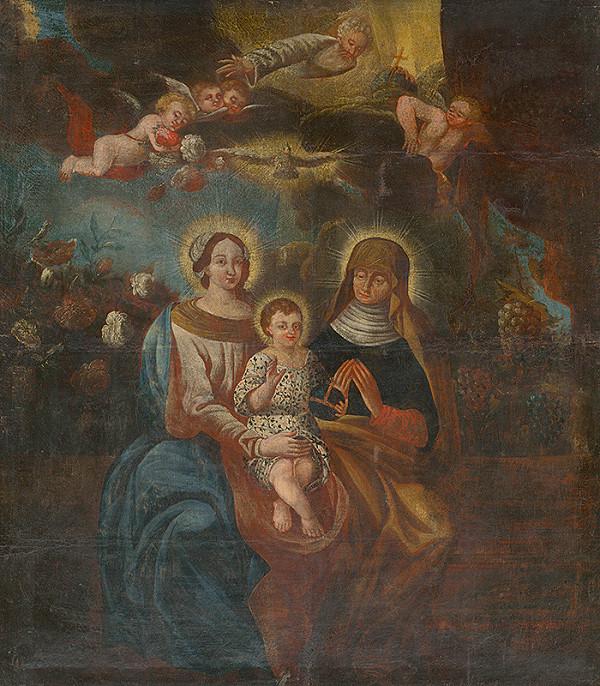 Slovenský maliar z 18. storočia, Neznámy maliar – Svätá Anna Samotretia